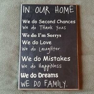 'We do Family' wall art